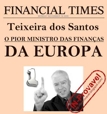 Teixeira dos Santos o pior ministro IN-Provavel